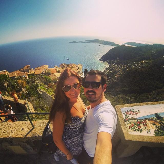 GoPro selfies in Eze