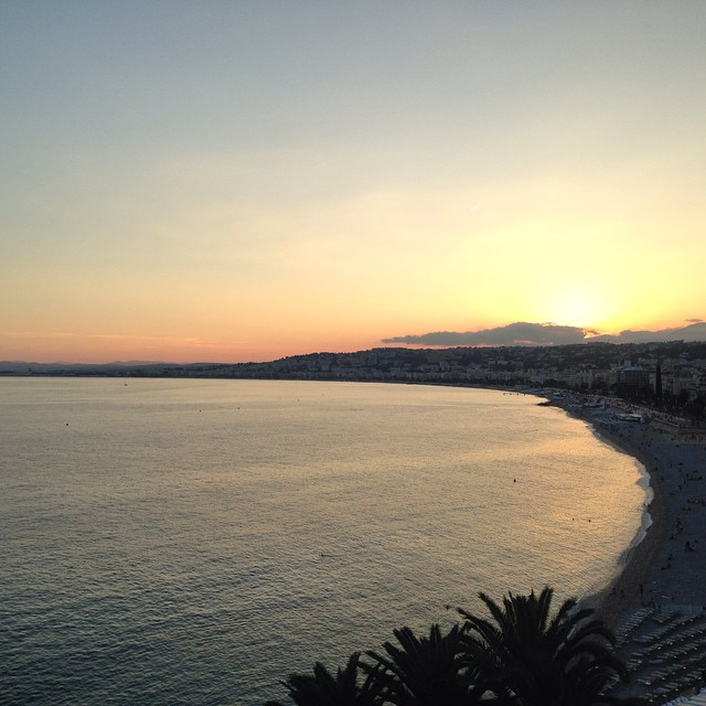 Sunset in Nice