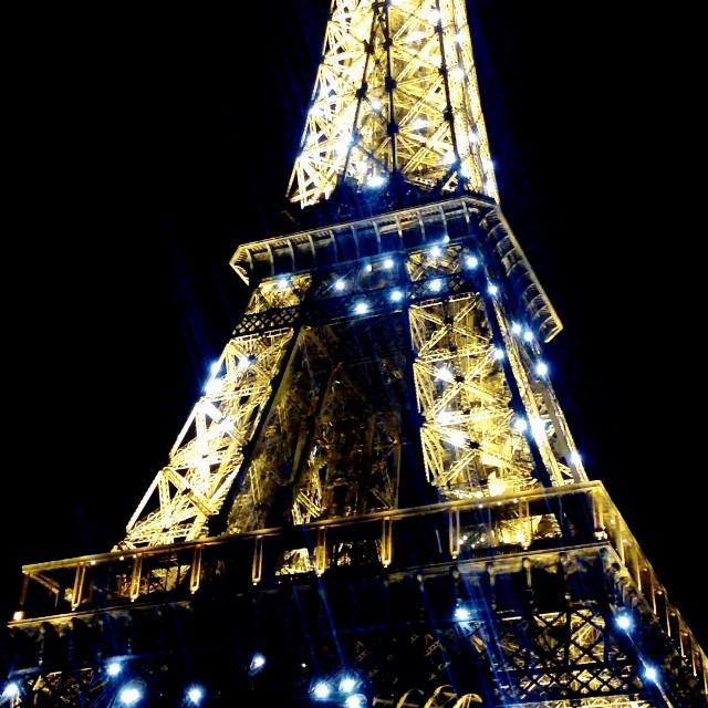 Eiffel Tower light show ! Love love love Paris !!!!