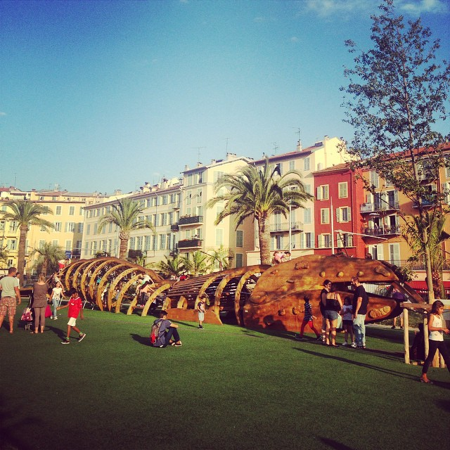 Cool park in the center of Nice