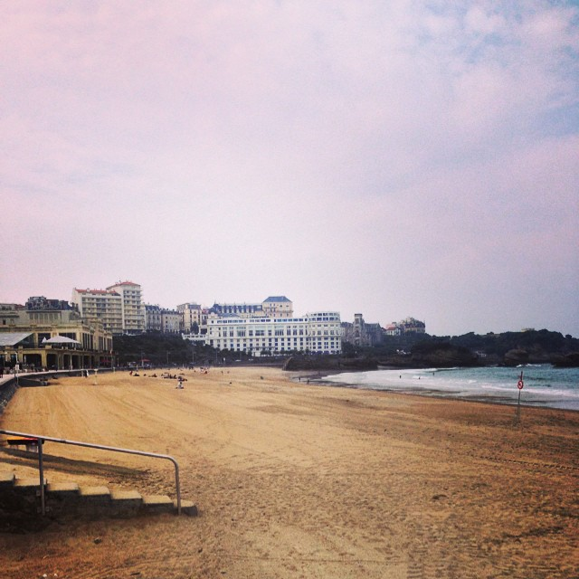 Biarritz.. bit too cloudy for the beach!