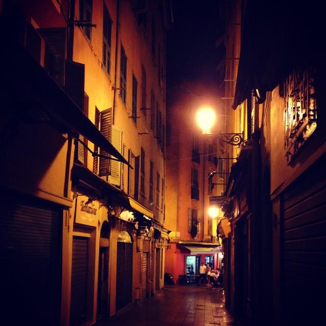 Laneways in Nice old town at night