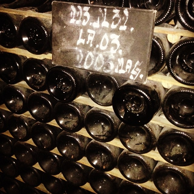 Dom Perignon in the Moët & Chandon cellars