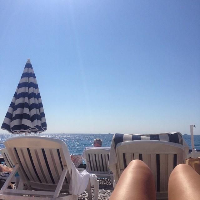 Beach chills in Nice