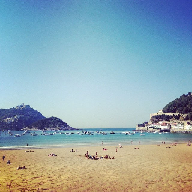Beach in San Sebastián