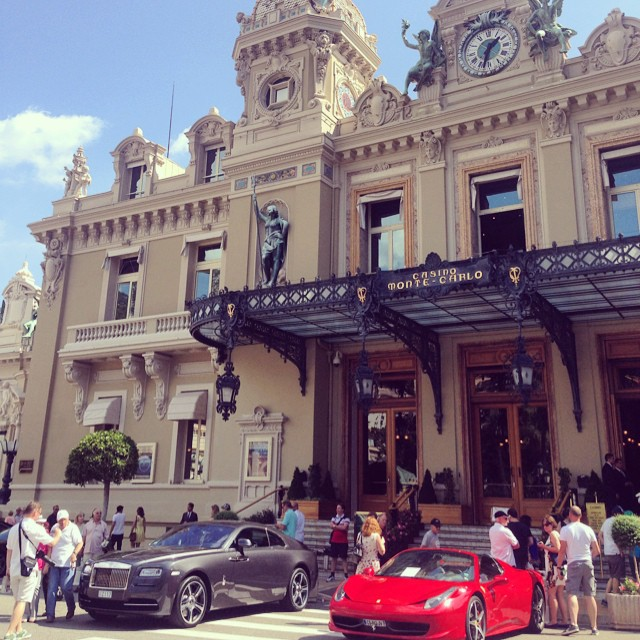 Monte Carlo.. and just your average Ferrari and Rolls Royce!