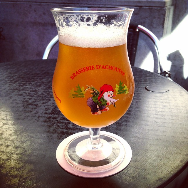Stoked to find La Chouffe on tap!