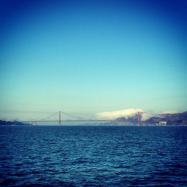 Golden Gate from the boat to Alcatraz