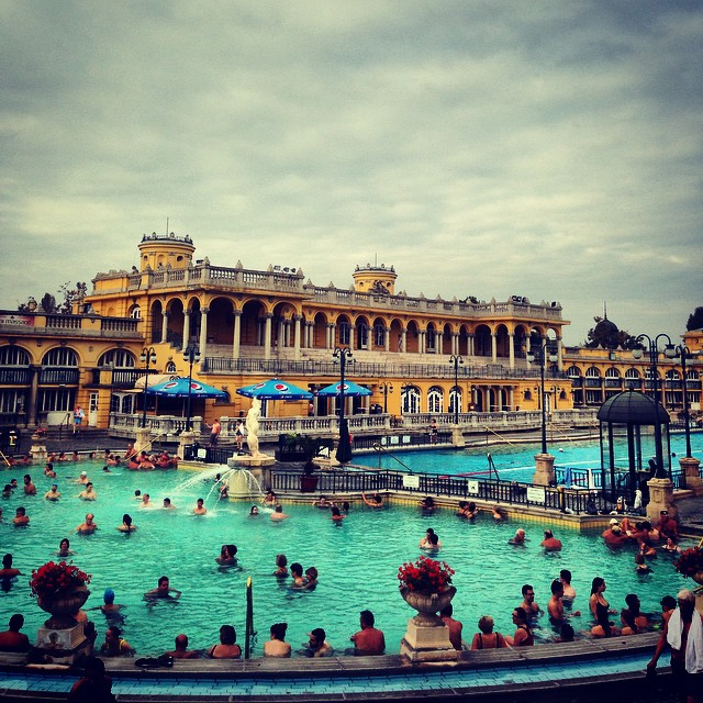 Took a dip in the thermal baths