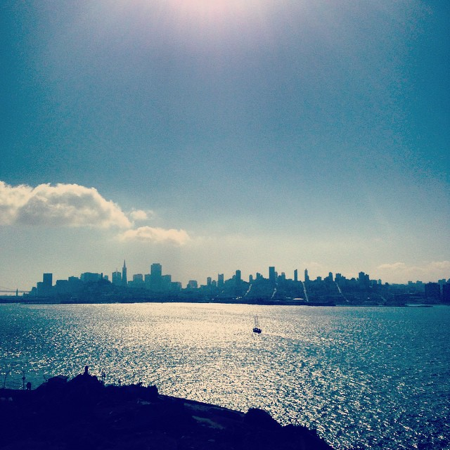 SF skyline from Alcatraz