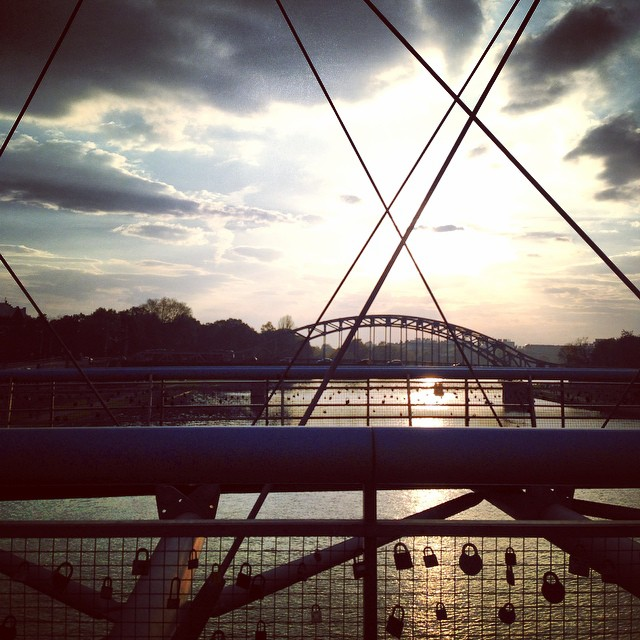 Sunset on the lock bridge