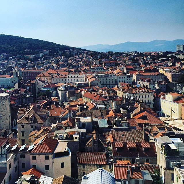 Split old town from the bell tower