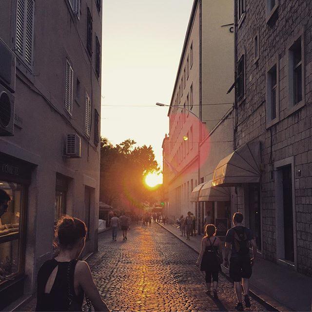 Cobble stone streets in Split