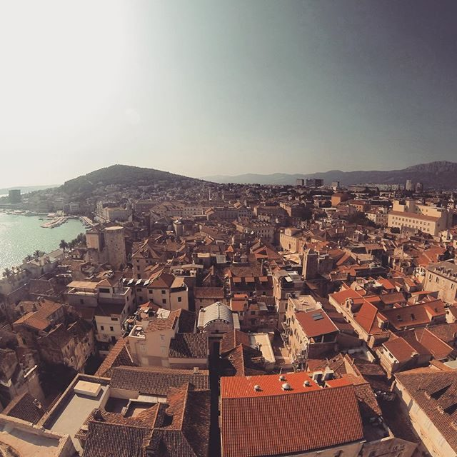 Split old town – wide angle