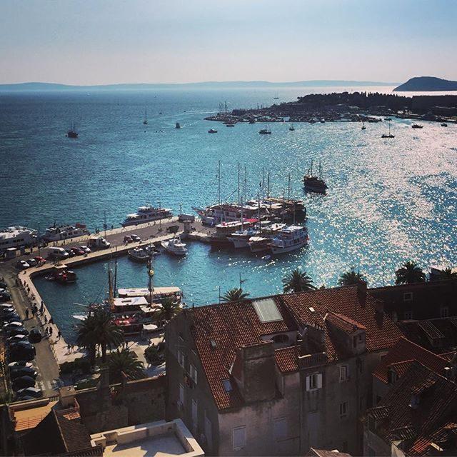 Sailboats in Split Harbour