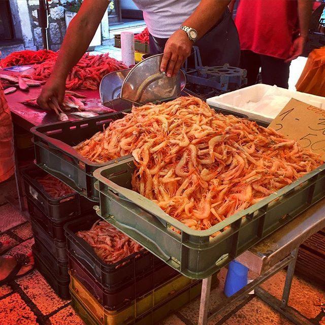 Fish market in Split