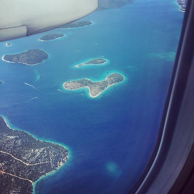 Flying into Split