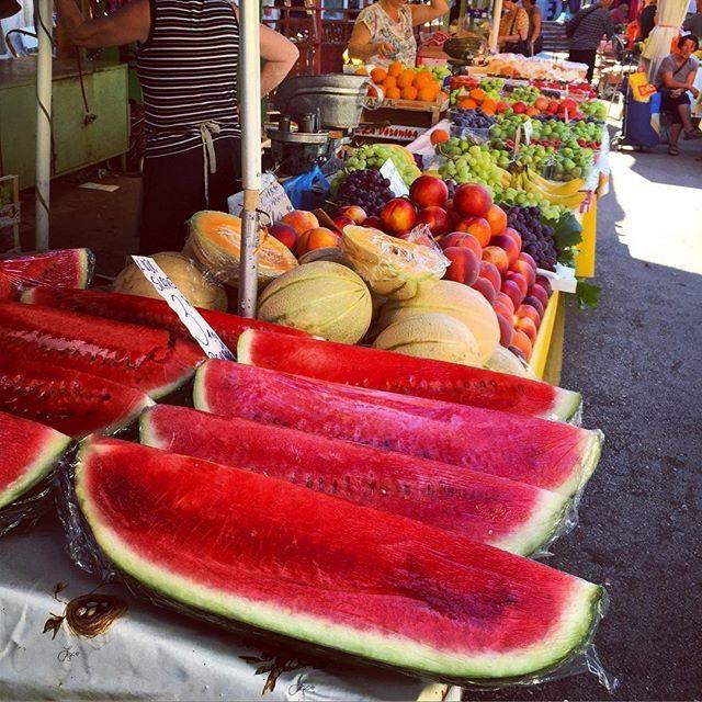 Fresh fruit market in Split
