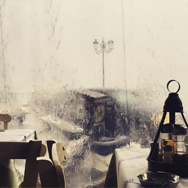 Huddled in a cafe during a crazy storm in Zakynthos town