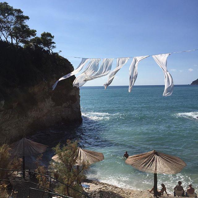 Beach club hangs in Zakynthos