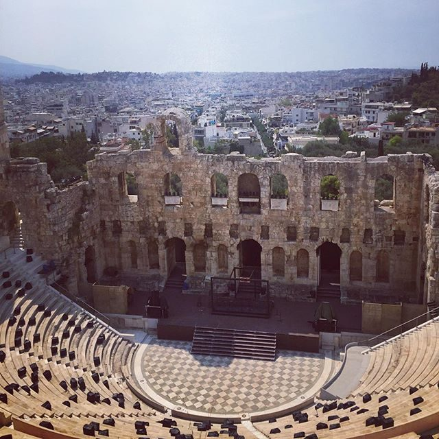 Odeon of Herodes Atticus Theatre ruins at the Acropolis