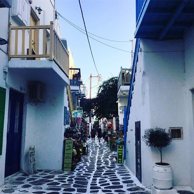 Colourful Mykonos streets