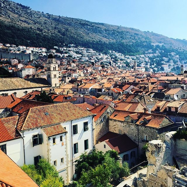 Dubrovnik in the morning from the wall