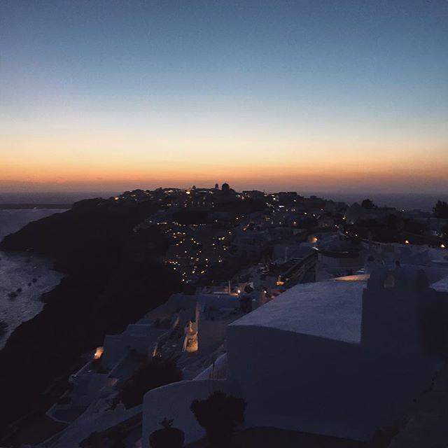 Sunset on the way to ioa