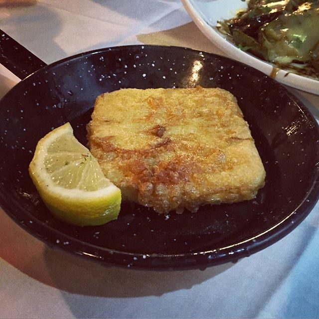 Mmm, saganaki cheese