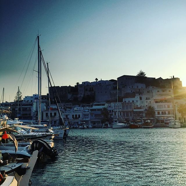 Naxos harbour at dawn