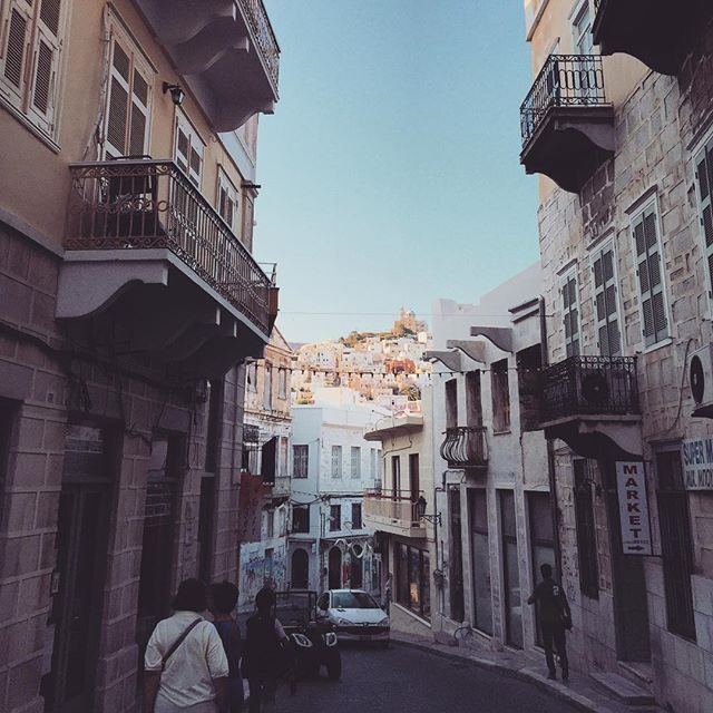 Streets of Syros old town