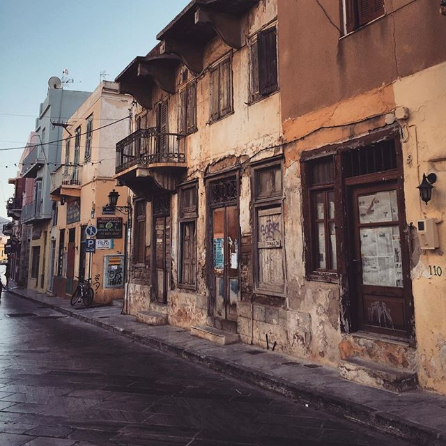 Old buildings in Syros