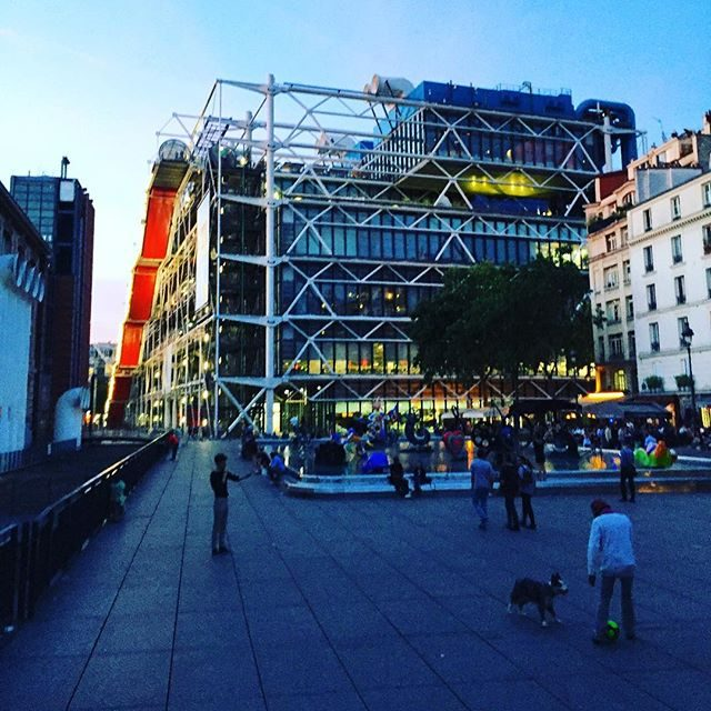 Centre Pompidou at dusk