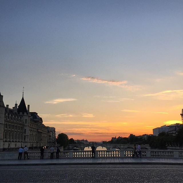 Paris sunset hashtag nofilter