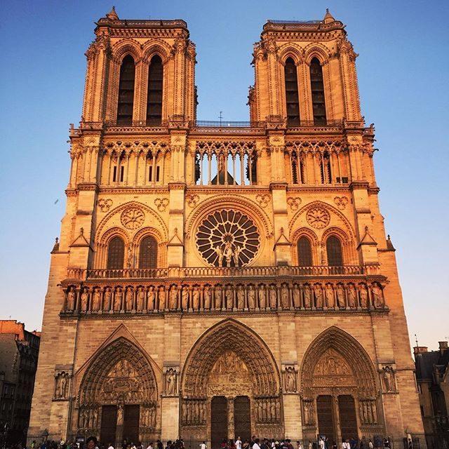 Notre-Dame at dusk