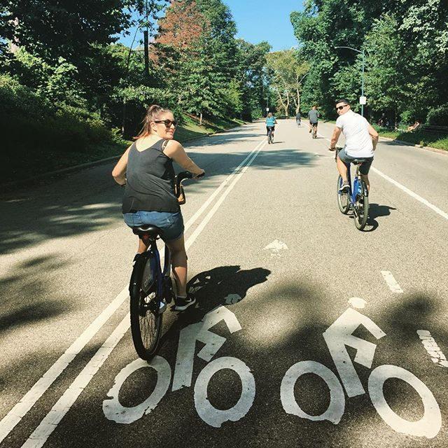 Riding around Central Park