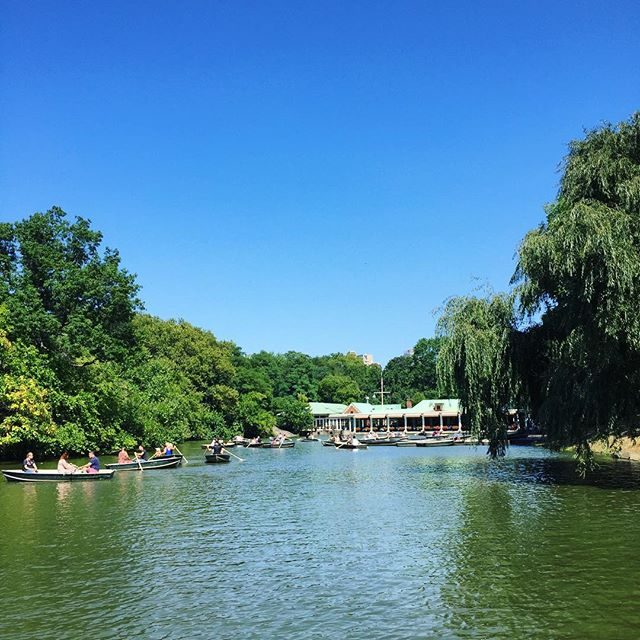The boathouse in Central Park