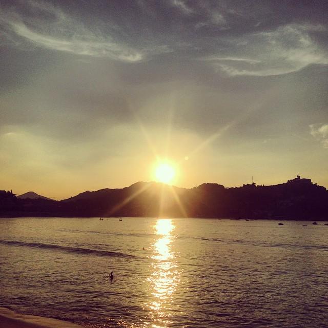Sunset in San Seb