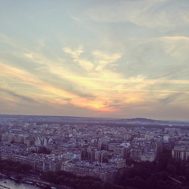 Sunset over Paris