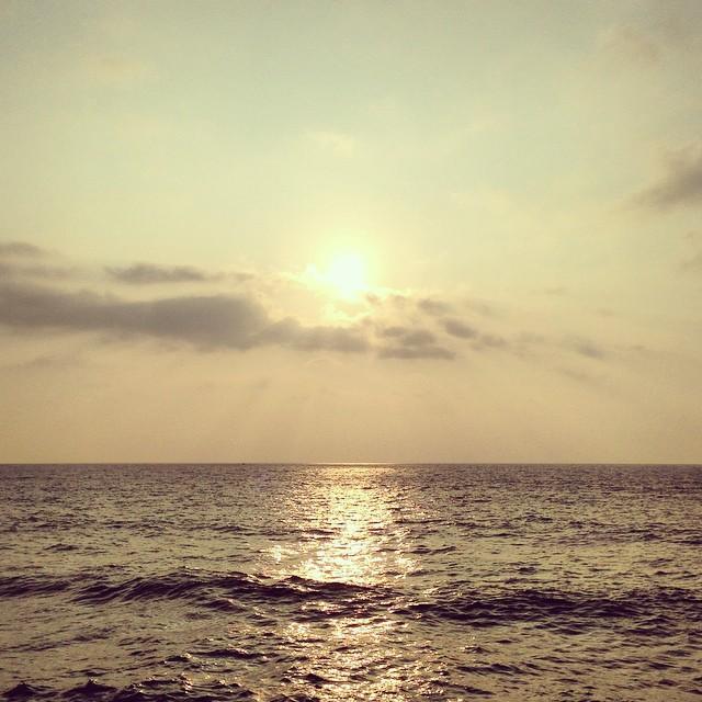 Sunset in Biarritz
