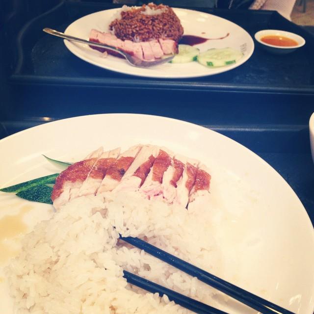 Chicken Rice & Roast Pork mid morning snack