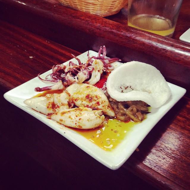 Our fav. grilled squid pintxos