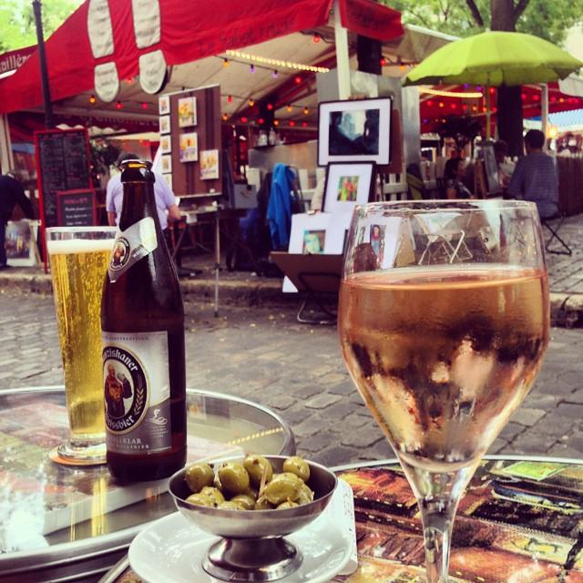 Drinks in Montmarte people watching