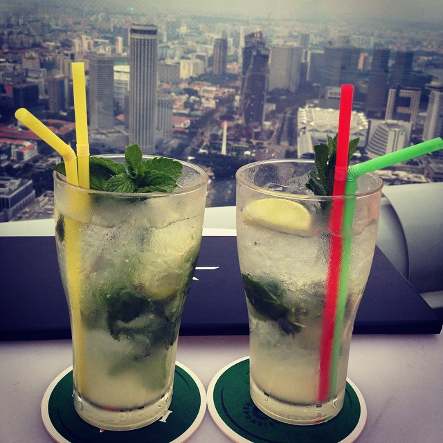 Mojitos with a view