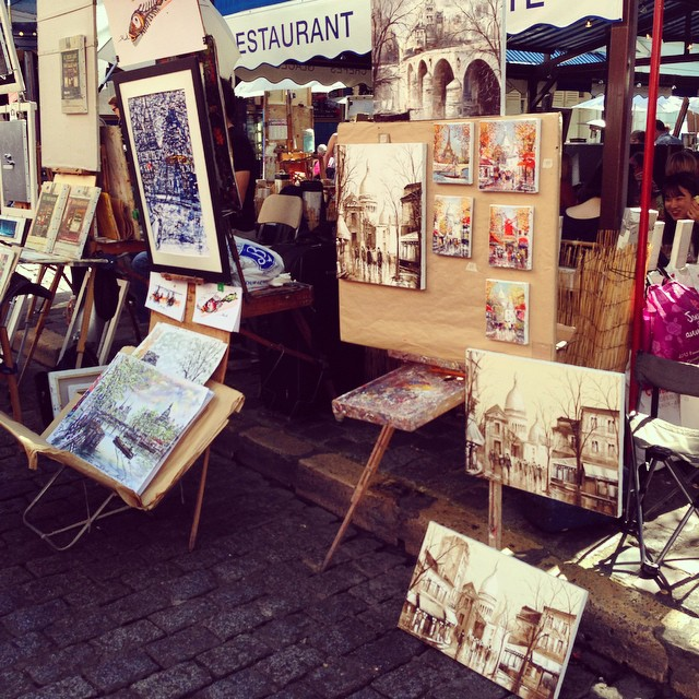 Cool paintings in the square