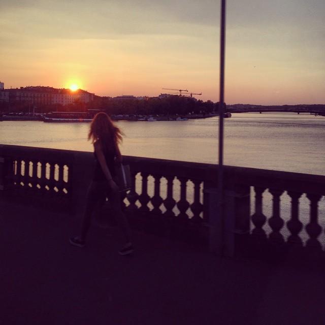 Sunset in Bayonne