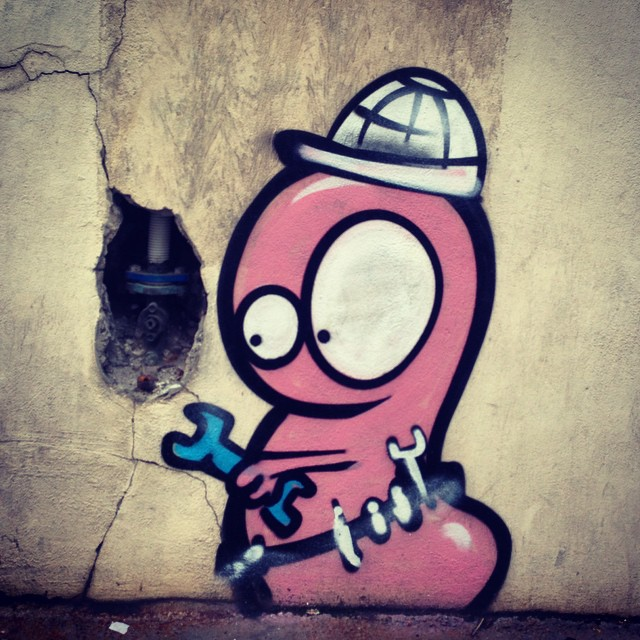 Cool street art in Montmarte