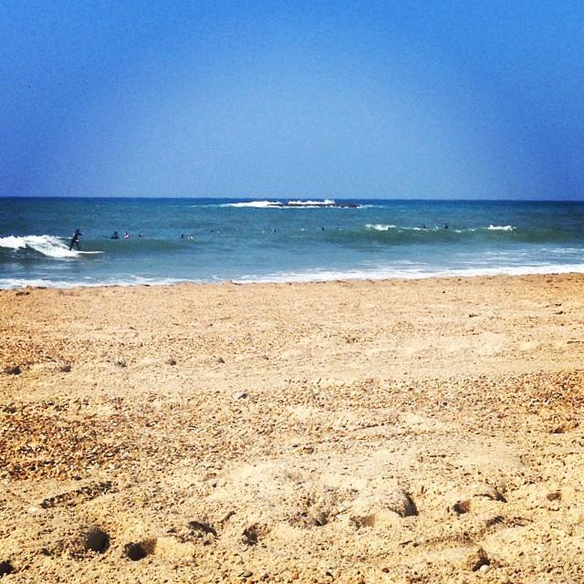 lazy beach day in Biarritz