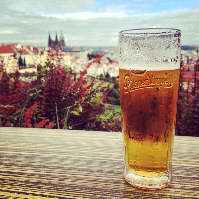 Local pilsner with a view