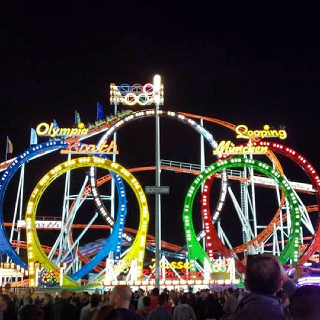 Just one of the rollercoasters at Oktoberfest!